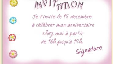 exemple d invitation anniversaire