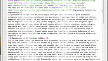 exemple de code html page d accueil