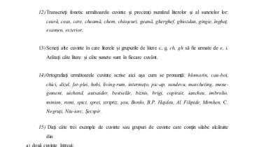 exemple de cuvinte cu litera x