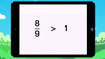 exemple de fraction egale a 1