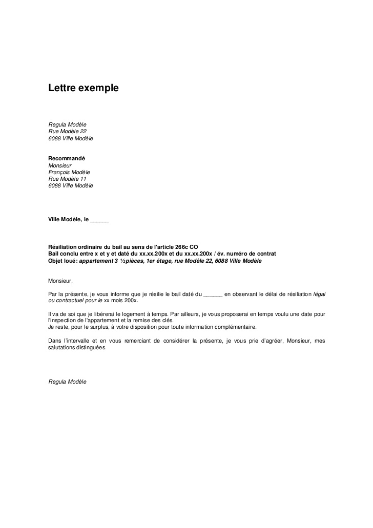 modele lettre resiliation contrat tpe document online. Black Bedroom Furniture Sets. Home Design Ideas