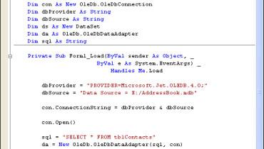 exemple de code vb.net
