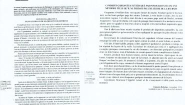 exemple de corpus sur 4 textes