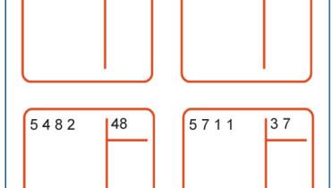 exemple de division a 2 chiffres