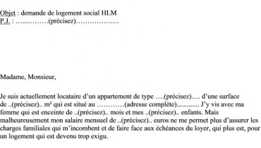 exemple de lettre pour hlm