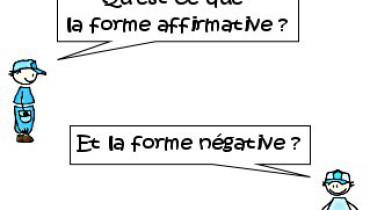 exemple de phrase affirmative et negative
