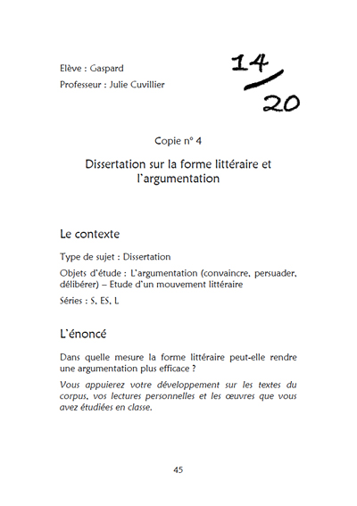 Dissertation argumentative philo