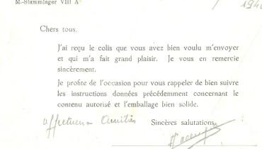 exemple de lettre a un prisonnier