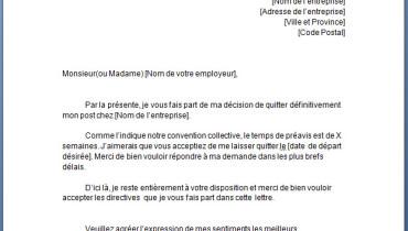 exemple de lettre de demande d emploi