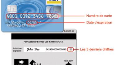 exemple de numero carte visa