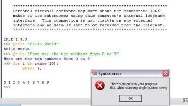 exemple de syntaxe