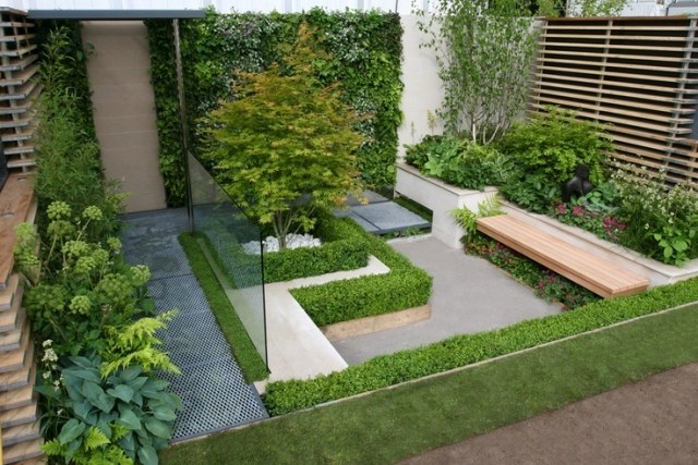 Exemple de jardin moderne for Photo de jardin moderne