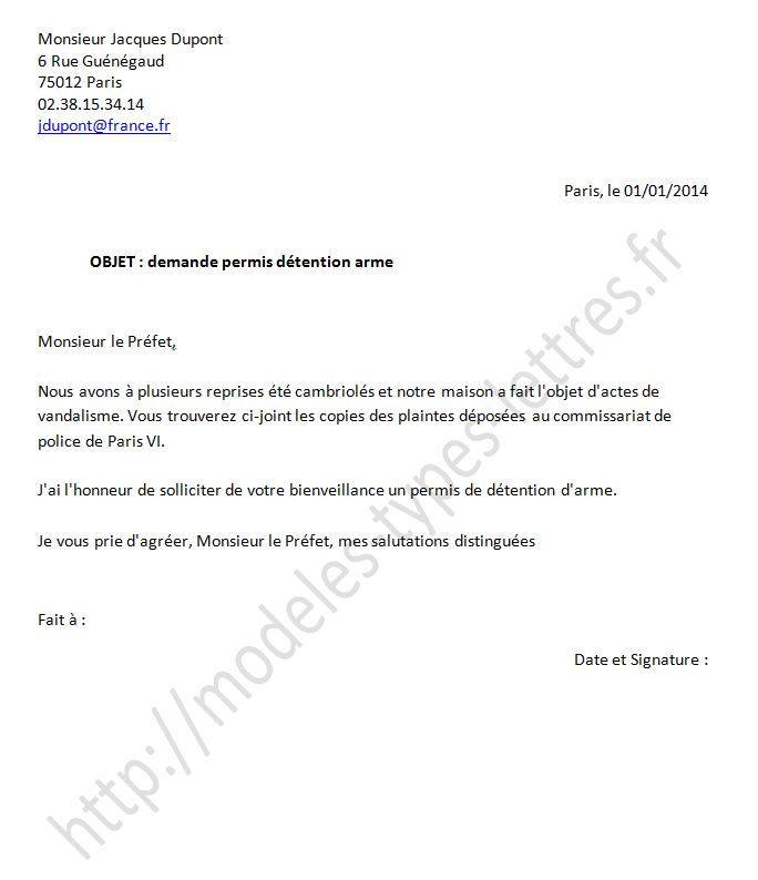 Exemple de lettre d autorisation for Autorisation de construction