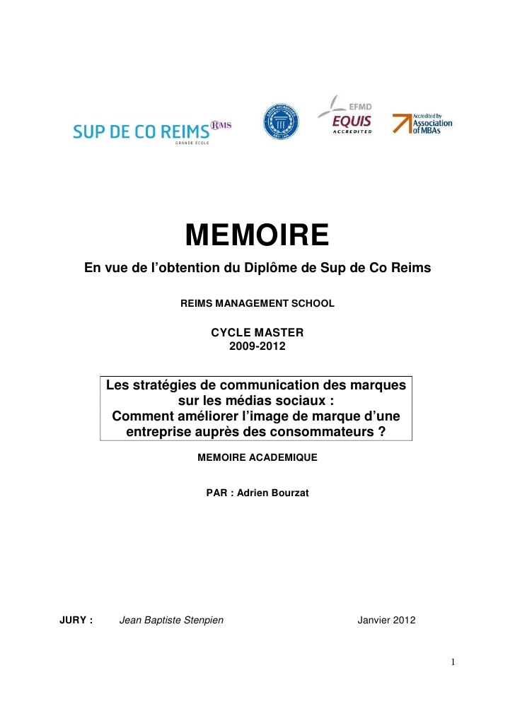 exemple de memoire master 1 psychologie