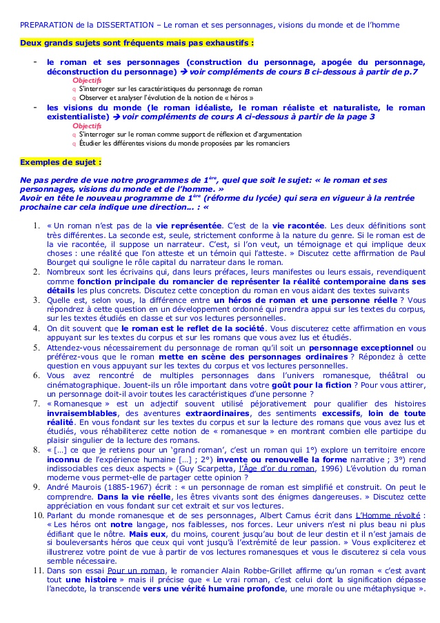exemple de dissertation explicatives