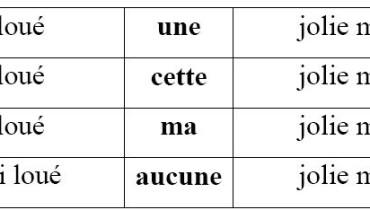 exemple de l adjectif