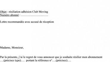 exemple de lettre de resiliation gdf