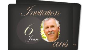 exemple de carton d invitation anniversaire 60 ans