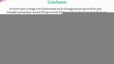 exemple de conclusion de rapport de stage