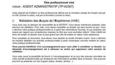 exemple de dspp agent administratif