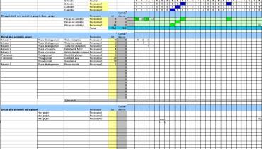 exemple de planning xls