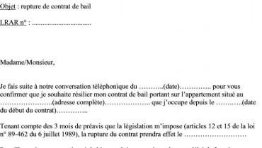 Modele Preavis Logement Rsa Document Online