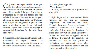exemple de texte narratif simple