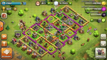 exemple de village clash of clans