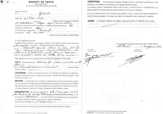 Exemple d acte de vente immobilier for Annuler offre achat maison