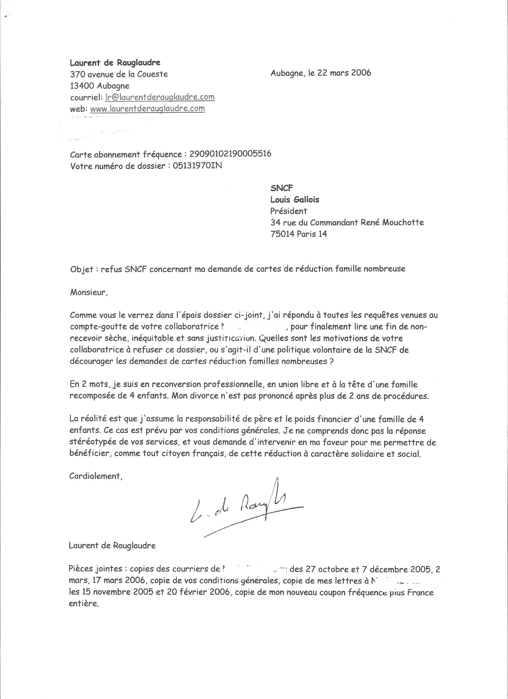 exemple d une lettre administrative