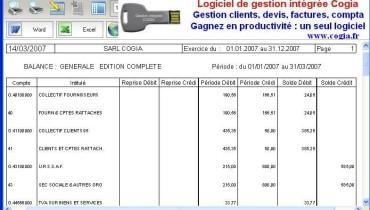 exemple de balance comptable