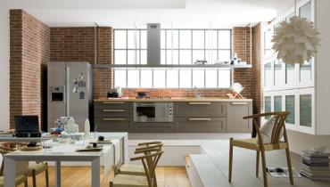 exemple de cuisine ouverte sur salon
