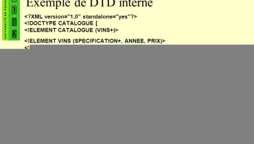 exemple de dtd interne