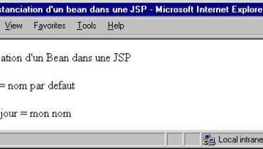 exemple de fichier jsp
