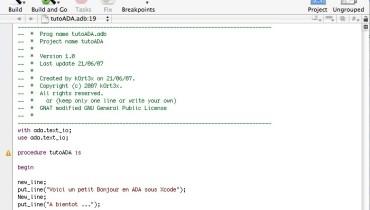 exemple de programme xcode