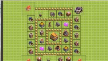 exemple de village clash of clan hdv 5