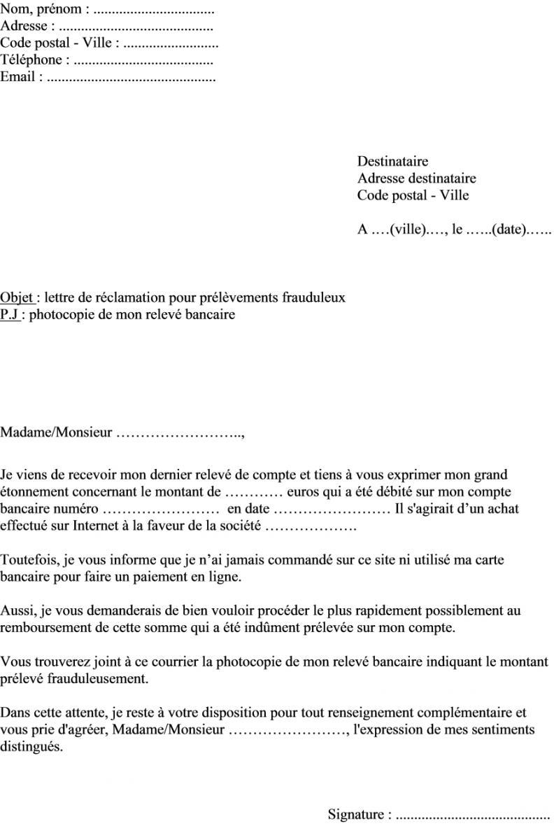 modele lettre de reclamation banque exemple de lettre de présentation site de rencontre Meaux modele lettre de reclamation banque