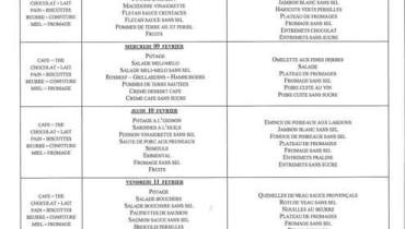 exemple de menu en ehpad