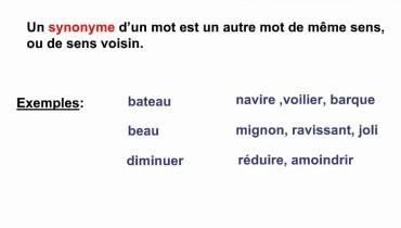 exemple de synonyme cm1