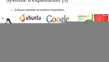 exemple de systeme d exploitation