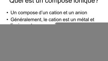 exemple de compose ionique