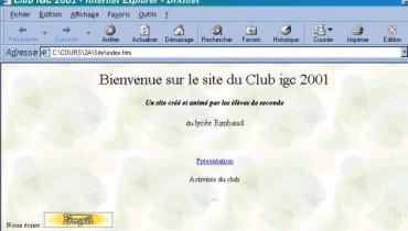exemple de page html