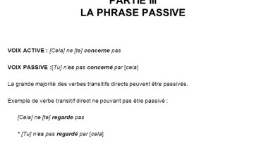 exemple de phrase passive