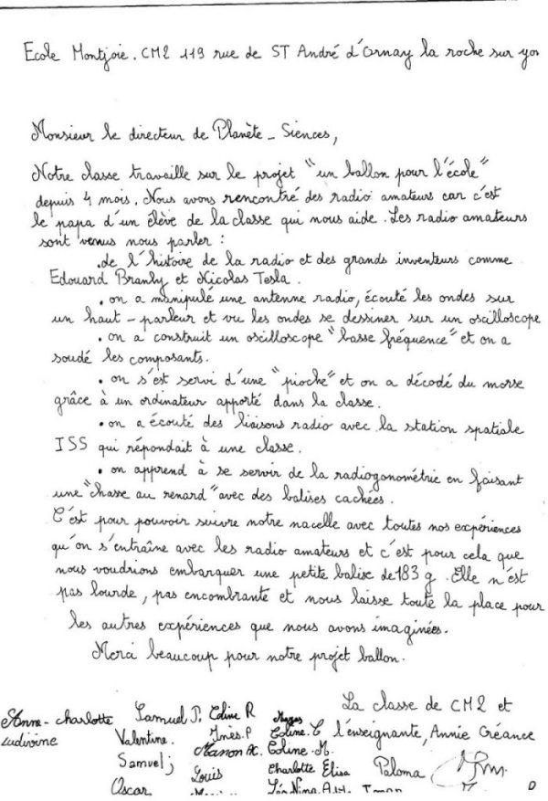 exemple de redaction en francais