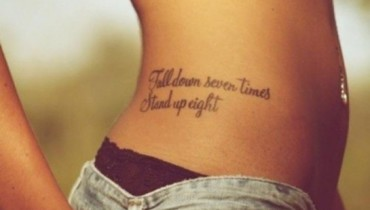 exemple de tatouage phrase