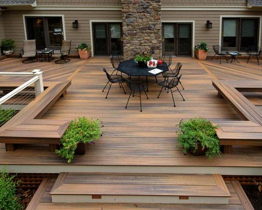 exemple de terrasse en bois
