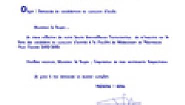 exemple de demande manuscrite fmp