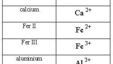 exemple de ions monoatomique