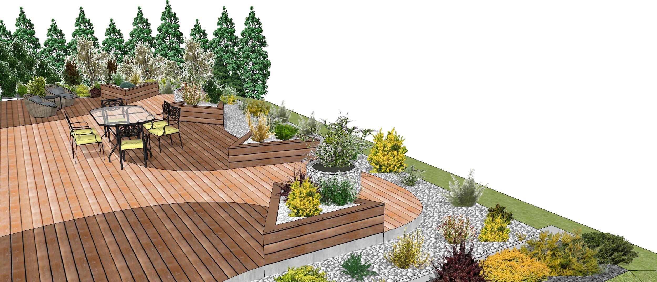 Exemple de jardin paysager gratuit for Jardin informatique