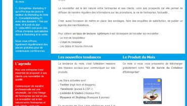 exemple de newsletter commerciale